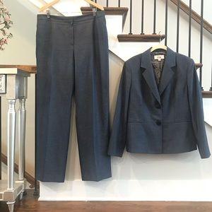 EUC Le Suit 2 pc steel blue pant suit size 16